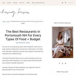 Find Fancy Restaurants in Portsmouth, NH
