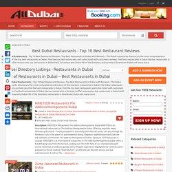 Dubai Restaurants Guide & Restaurant Reviews