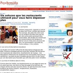 Six astuces que les restaurants utilisent pour vous faire dépenser plus