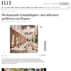 Restaurant romantique : les meilleures adresses de restaurants romantiques en France