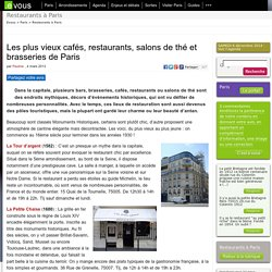 Les plus vieux cafés, restaurants, salons de thé et brasseries de Paris
