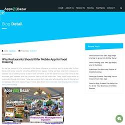 Why Restaurants Should Offer Mobile App for Food Ordering