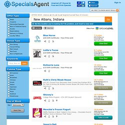 Best Coupons & Deals to Save Money at Local Restaurants & Bars - Get Specials & Discounts at SpecialsAgent.com