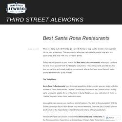 Best Santa Rosa Restaurants