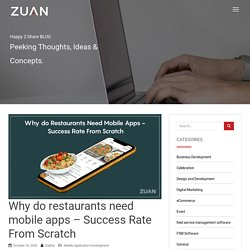 Why do restaurants need mobile apps - Success Rate From Scratch
