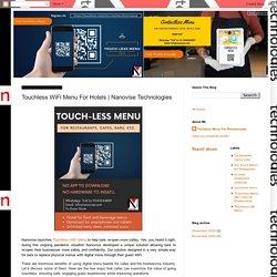 Nanovise Technologies: Touchless WiFi Menu For Hotels