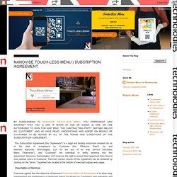 Nanovise Technologies: NANOVISE TOUCH-LESS MENU