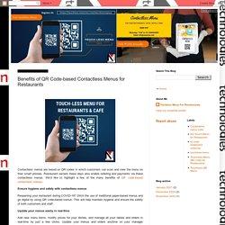 Nanovise Technologies: Benefits of QR Code-based Contactless Menus for Restaurants