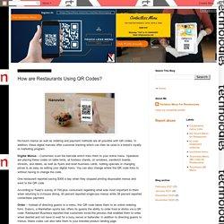 Nanovise Technologies: How are Restaurants Using QR Codes?