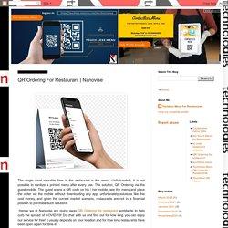 Nanovise Technologies: QR Ordering For Restaurant