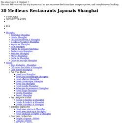 30 Meilleurs Restaurants Japonais Shanghai sur TripAdvisor - lire les avis sur des Restaurants Japonaise à Shanghai, Chine
