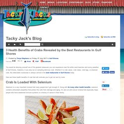 3 Health Benefits of Crabs Revealed by the Best Restaurants In Gulf Shores