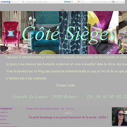 """tapissier à brest : Tous les messages sur tapissier à brest - """"Côté sièges, tapissier à Brest,restauration,ameublement"""""""