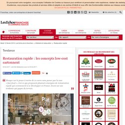 Restauration rapide : les concepts low-cost cartonnent