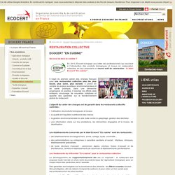 Restauration collective et label Ecocert