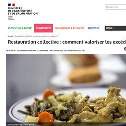 MAA 16/10/19 Restauration collective : comment valoriser les excédents ?