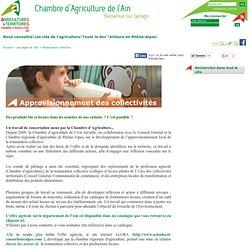CHAMBRE D AGRICULTURE DE L AIN - Des produits bio et locaux dans les assiettes de nos enfants ? C'est possible !
