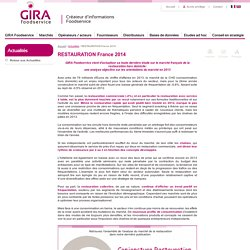 RESTAURATION France 2014 - GIRA Foodservice