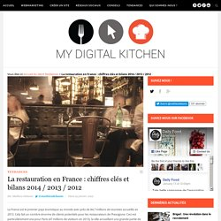 La restauration en France : chiffres clés et bilans 2014 / 2013 / 2012