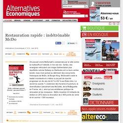 Restauration rapide: indétrônable McDo