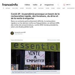 AFP 08/02/21 Covid-19 : la pandémie provoque un boom de la restauration rapide, des livraisons, du drive et de la vente à emporter
