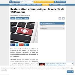 Restauration et numérique : la recette de 1001menus
