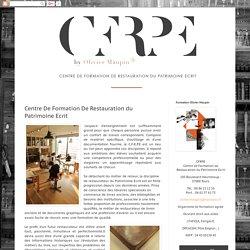 CFRPE: Centre De Formation De Restauration du Patrimoine Ecrit