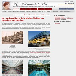 La « restauration » de la piscine Molitor, une imposture patrimoniale