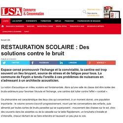 RESTAURATION SCOLAIRE : Des solutions contre...