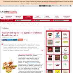 Restauration rapide : les 5 grandes tendances d'un secteur qui pèse 32,7 milliards d'euros en France