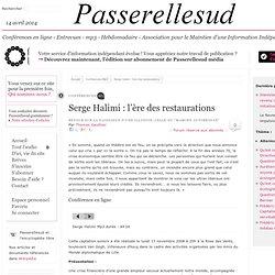 Serge Halimi : l'ère des restaurations