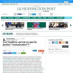 "Loi Taubira: qu'est-ce que la justice ""restaurative""?"