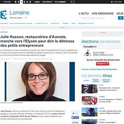 Julie Husson, restauratrice d'Aumetz, marche vers l'Elysée pour dire la détresse des petits entrepreneurs - France 3 Lorraine