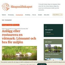 Anlägg eller restaurera en våtmark: Lönsamt och bra för miljön - Skogssällskapet.se