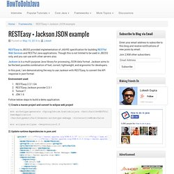 RESTEasy + Jackson JSON example