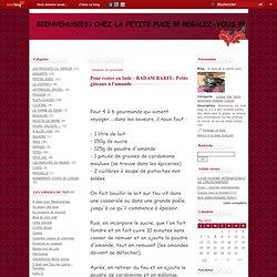 Pour rester en Inde : BADAM BARFI - Petits gâteaux à l'amande - le blog de la petite puce