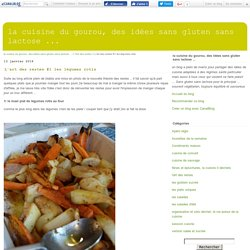 L'art des restes #1 les légumes rotis - la cuisine du gourou, des idées sans gluten sans lactose ...
