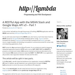 A RESTful app with the MEAN stack and Google Maps API v3 - Part 1
