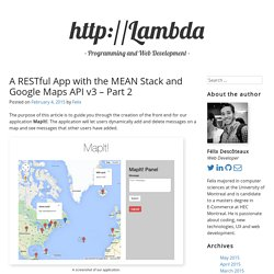 A RESTful app with the MEAN stack and Google Maps API v3 – Part 2