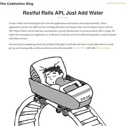 Restful Rails API, Just Add Water