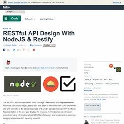 RESTful API Design With NodeJS & Restify - Tuts+ Code Tutorial
