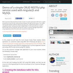 Demo of a simple CRUD RESTful PHP service used with AngularJS and MySQL