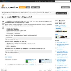 restful url - How to create REST URLs without verbs
