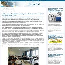 Utilité sociale et médiation numérique : restitution par 7 collectifs brestois et rapport final