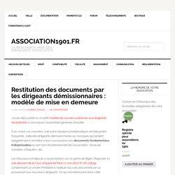 Restitution des documents par les dirigeants démissionnaires : modèle de mise en demeure