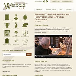 Art Restoration & Antique Repair: Wiebold Studio