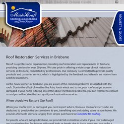 Roof Restoration Experts Brisbane