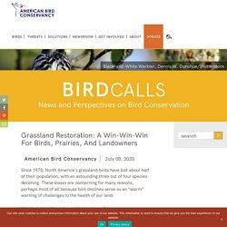 Grassland Restoration: A Win-Win-Win for Birds, Prairies, and Landowners