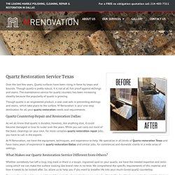 Quartz Restoration, Repair Texas - Quartz Countertops Dallas - McKinney
