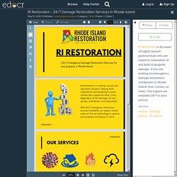 RI Restoration - 24/7 Damage Restoration Services In Rhode Island